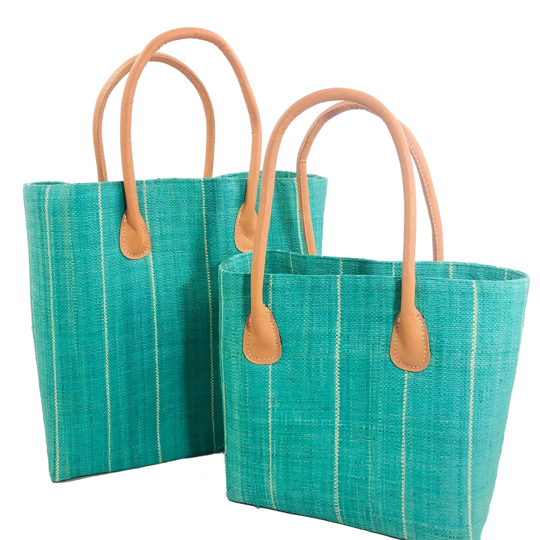 Soubic Pin Stripes Basket - Mint | Trada Marketplace