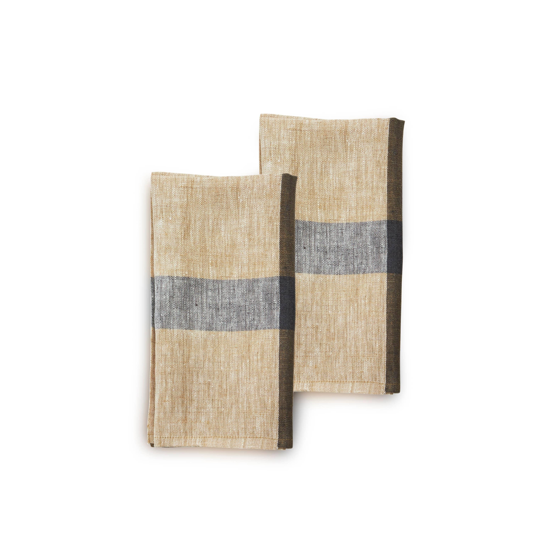 CAFE CON LECHE Napkin (set of 2), Handwoven Flax Linen | Trada Marketplace