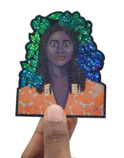 Portrait 12 Art Sticker | Trada Marketplace