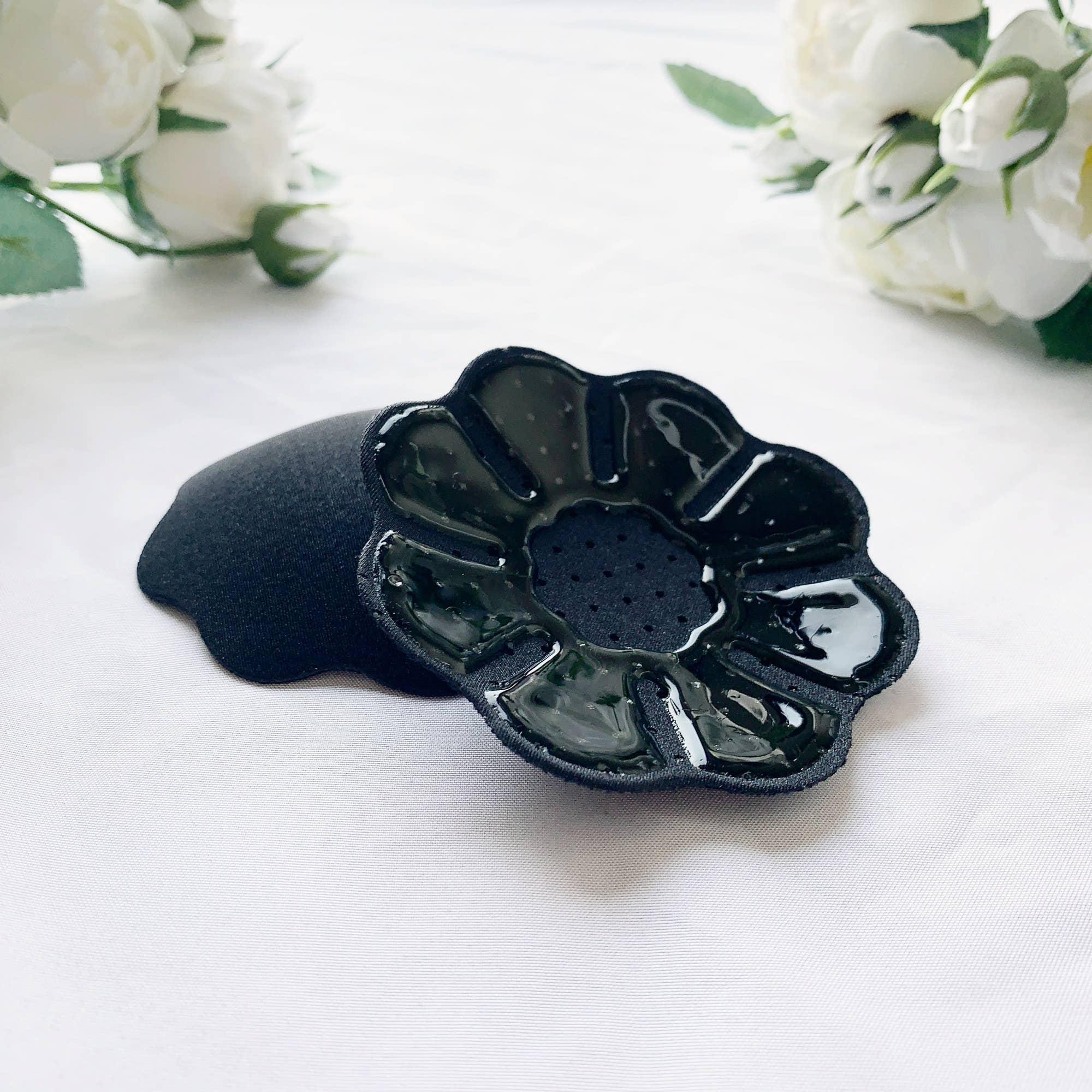 Flower Fabric Nipple Cover - Black | Trada Marketplace