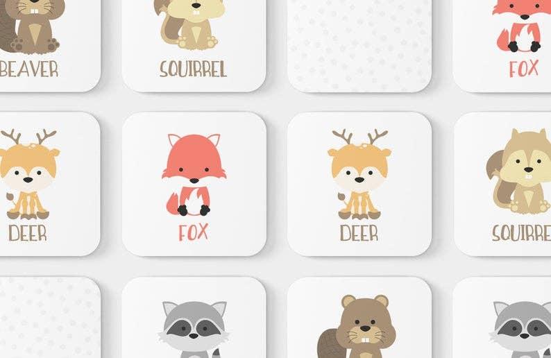 Woodland Animal Memory Game   Trada Marketplace
