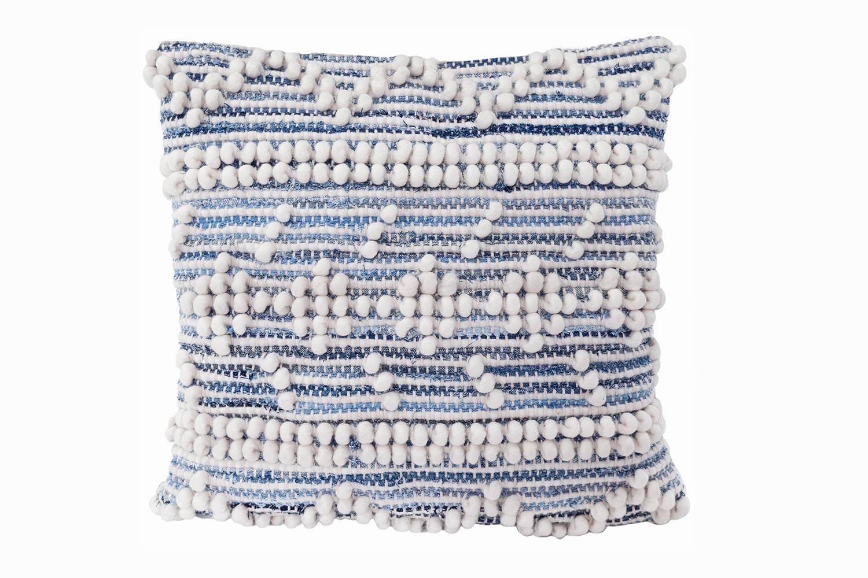 Handwoven Recycled Denim Pillow   Trada Marketplace