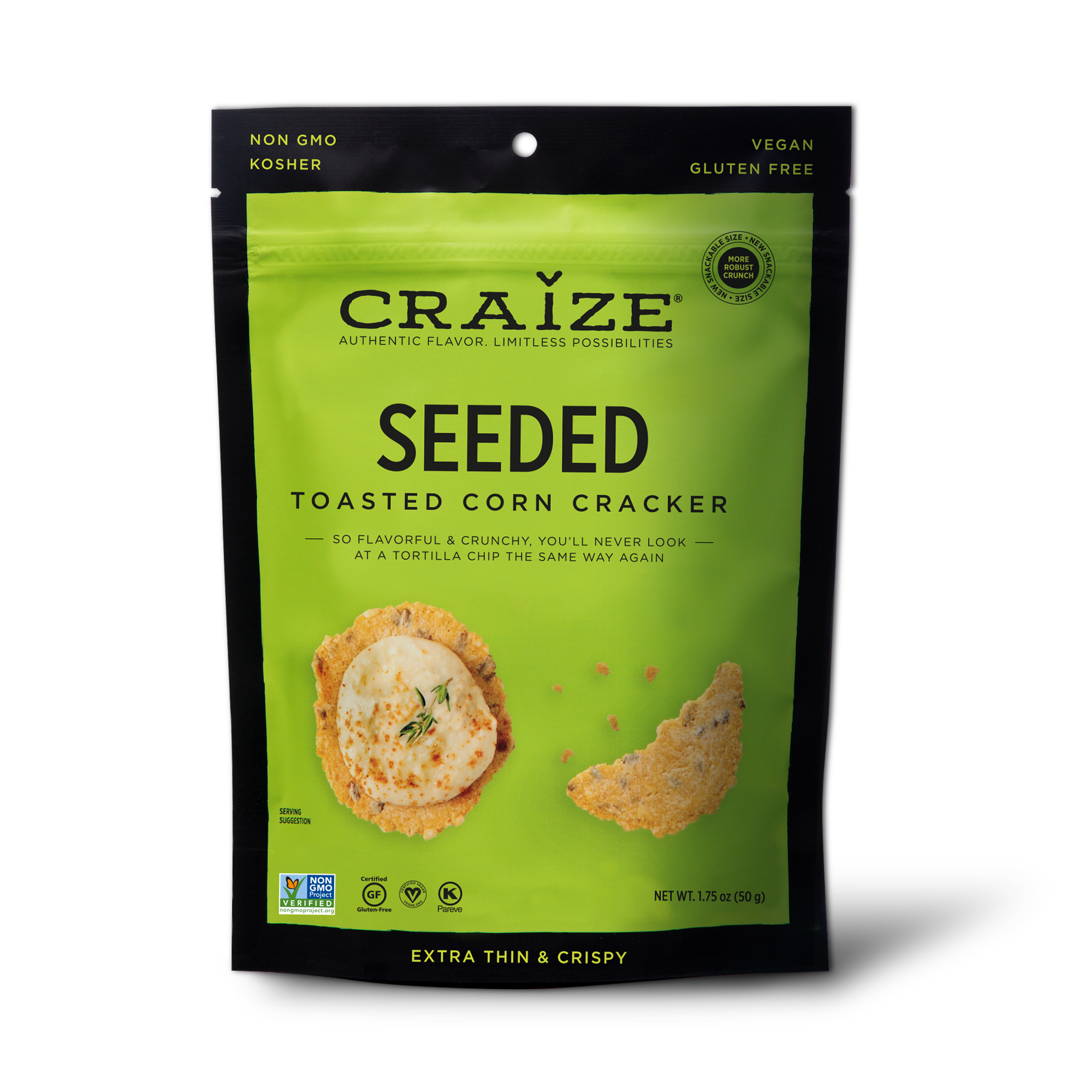 Seeded Toasted Corn Crackers 1.75oz | Trada Marketplace