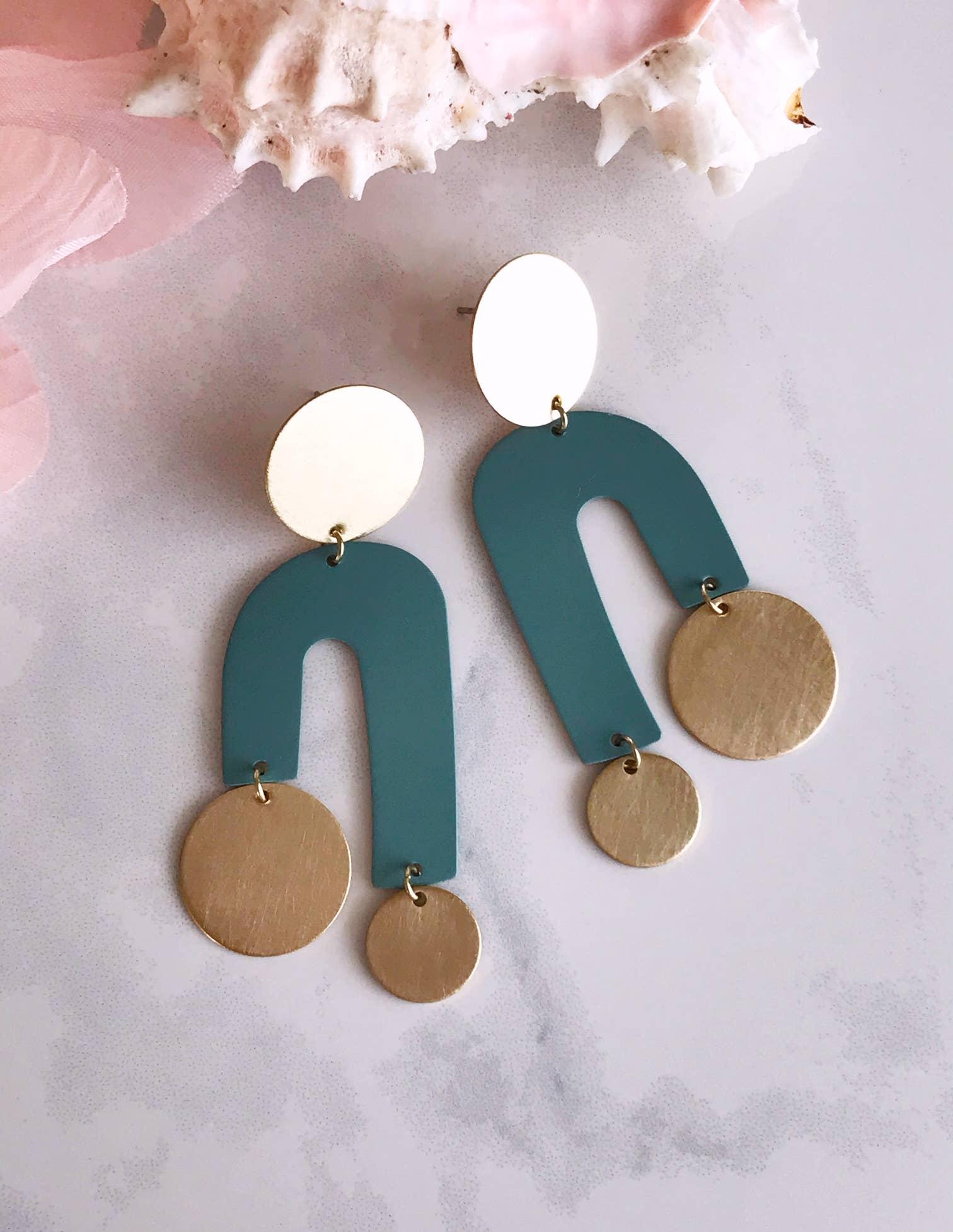 manhattan earrings - sage   Trada Marketplace