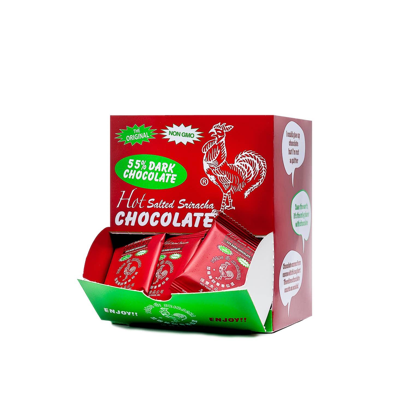 0.5 oz Sriracha 55% Dark Mini Chocolate Bar   Trada Marketplace