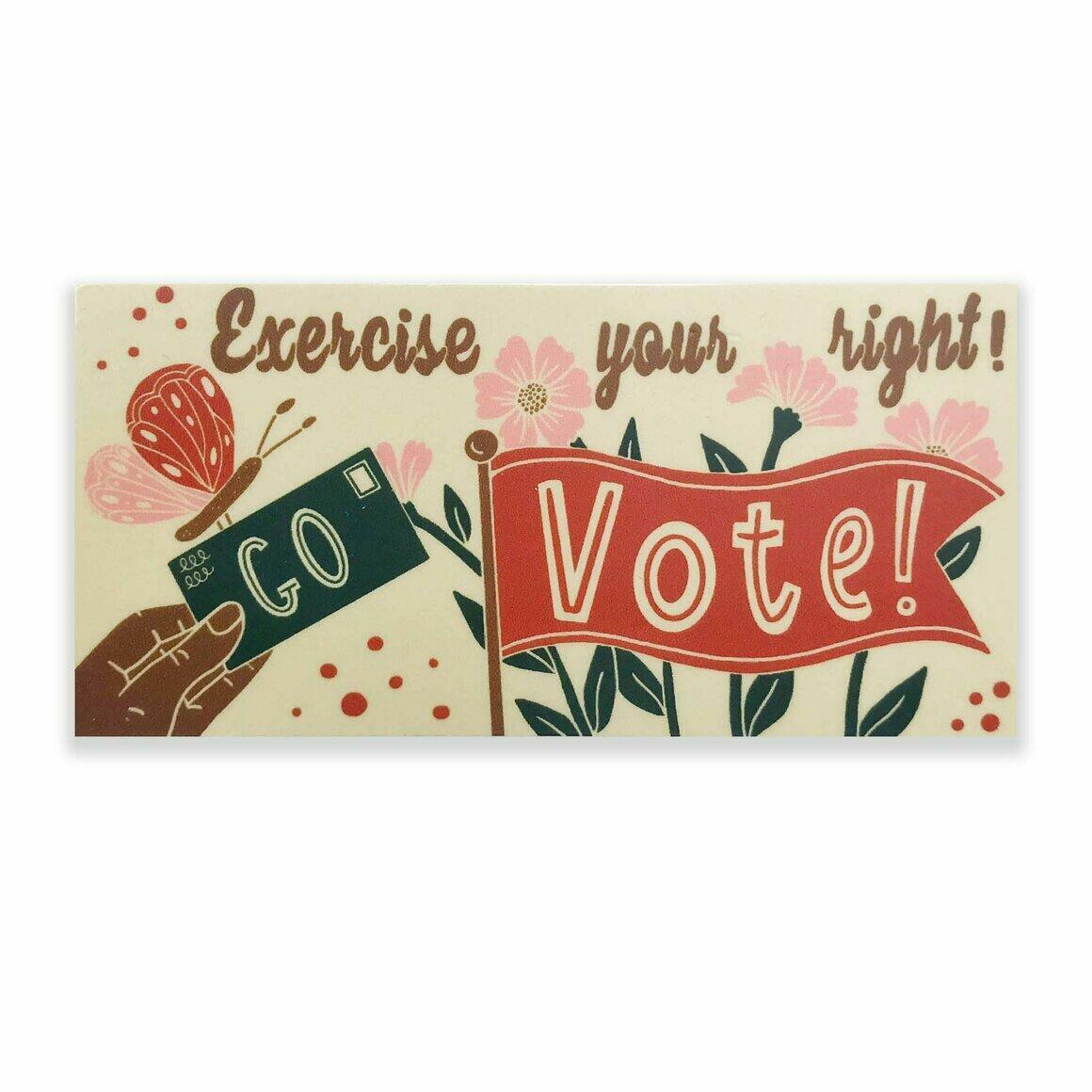 Go Vote! Sticker | Trada Marketplace