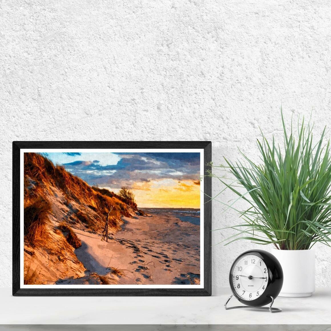 """Sunset on the Dunes"" Fine Art Print | Trada Marketplace"