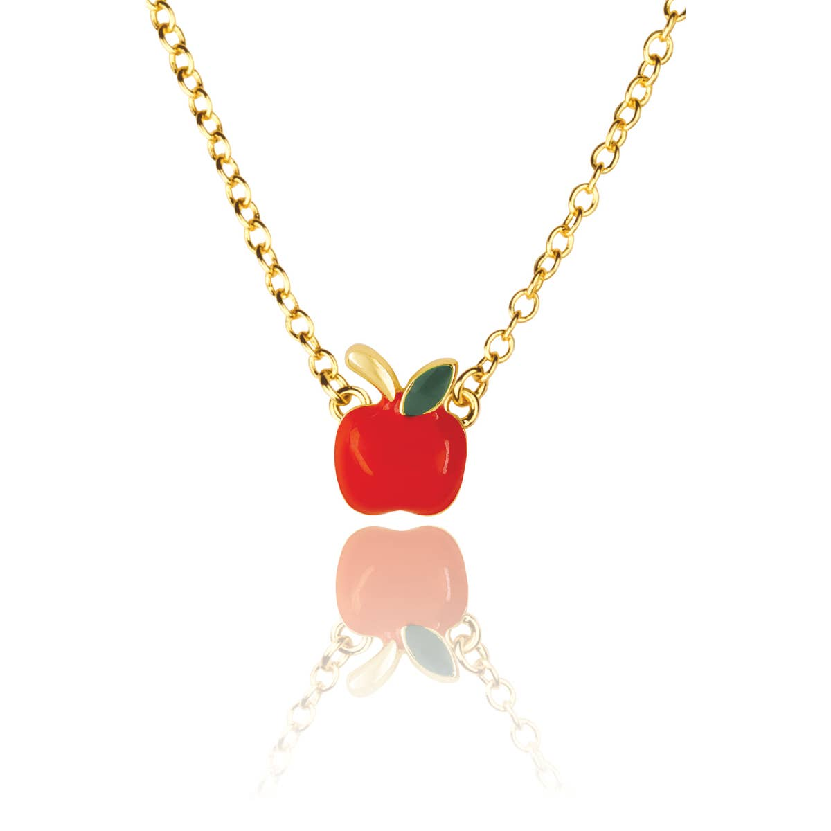 Enamel Apple Necklace   Trada Marketplace