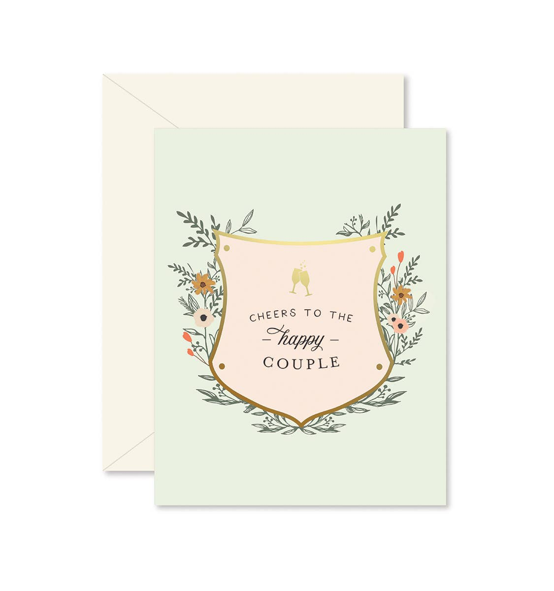 Cheers to the Happy Couple Greeting Card   Trada Marketplace
