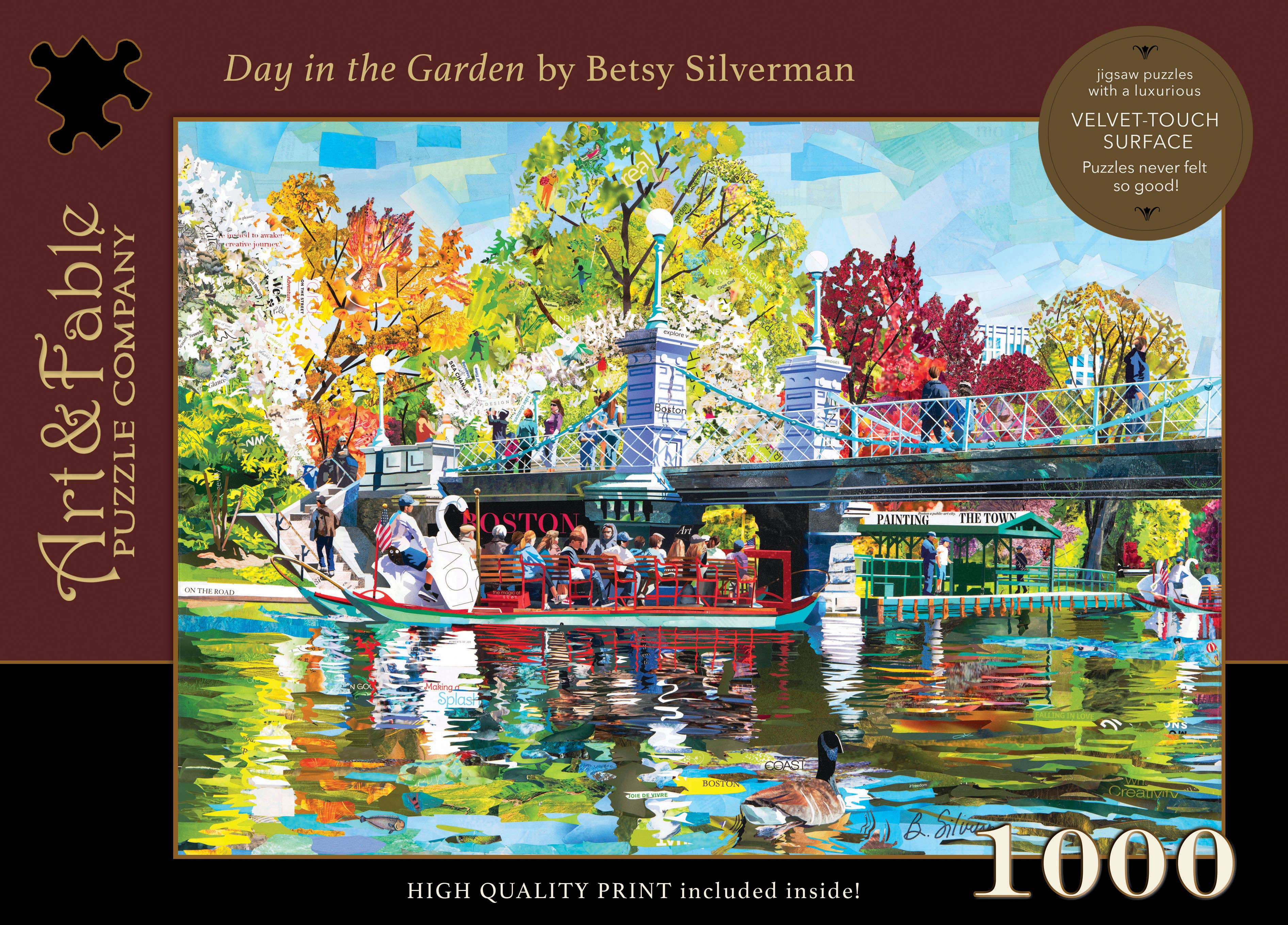 Day in the Garden, 1000-pc Velvet-Touch Jigsaw Puzzle featuring the art of Betsy Silverman | Trada Marketplace