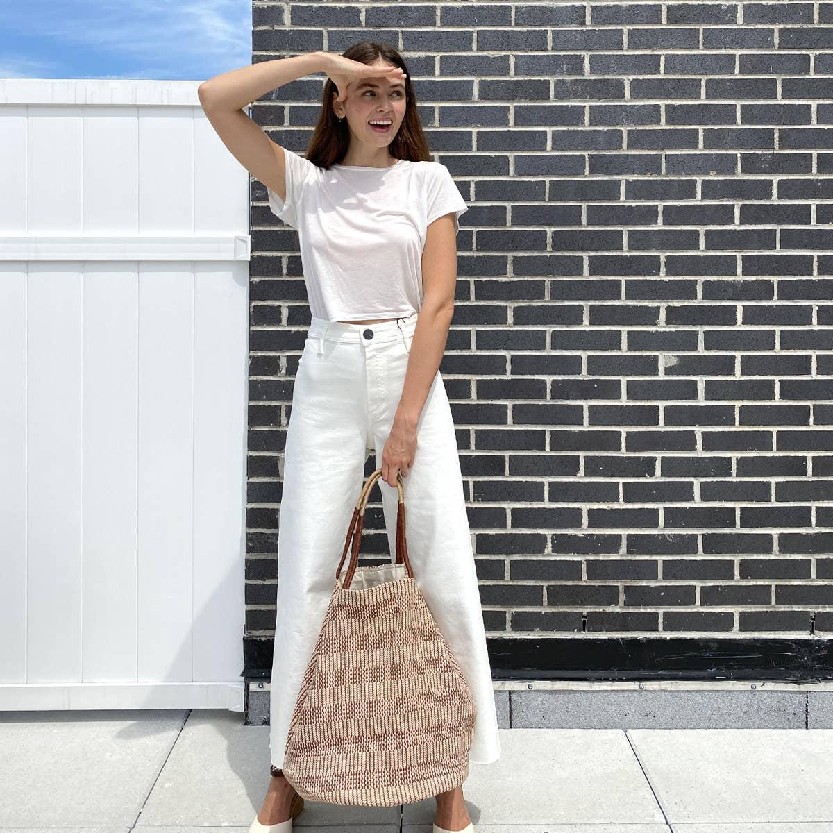 Dobi Shoulder Tote - Brown | Trada Marketplace