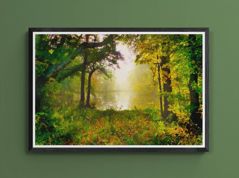 """Morning Mist"" Fine Art Print | Trada Marketplace"