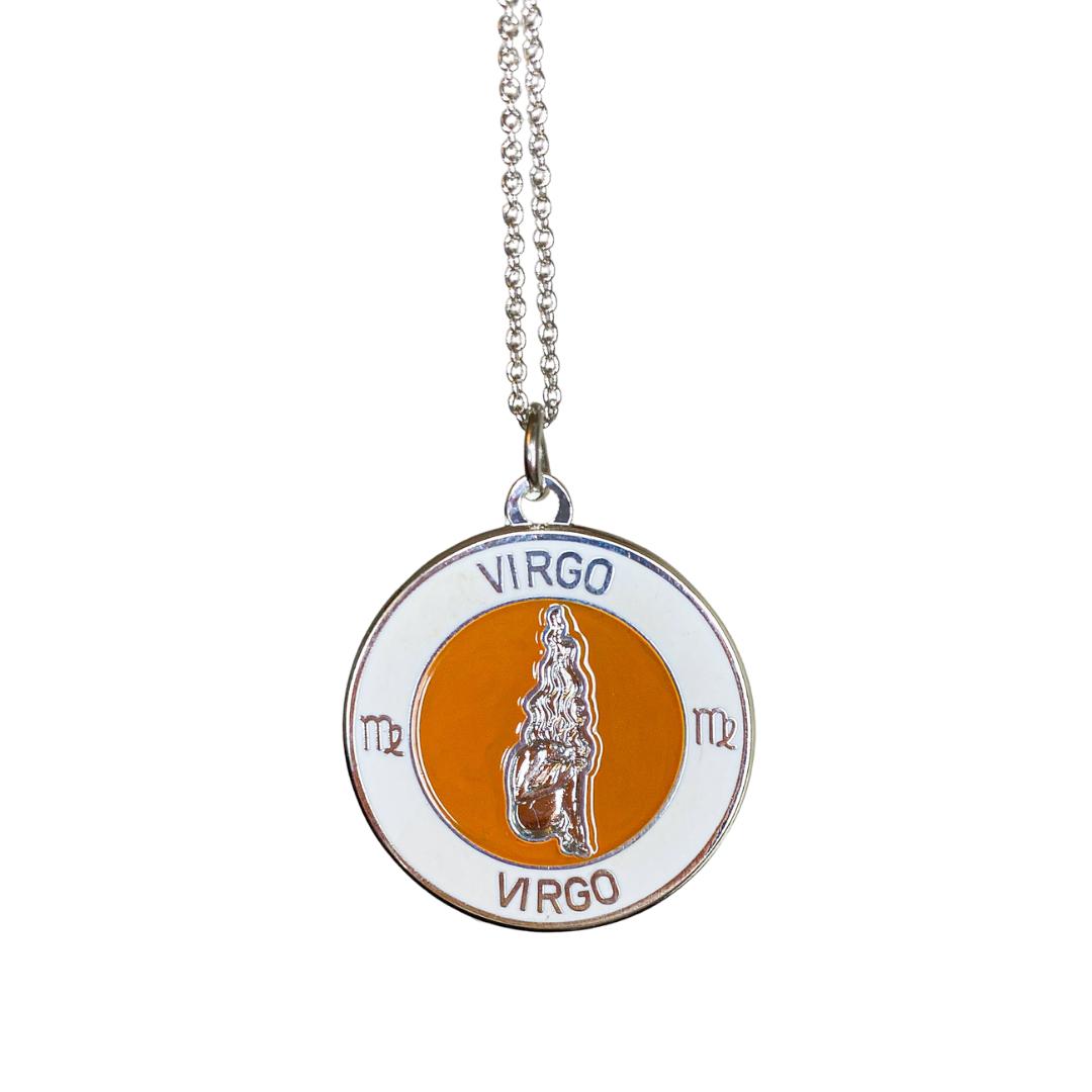 Virgo Enamel Zodiac Pendant   Trada Marketplace