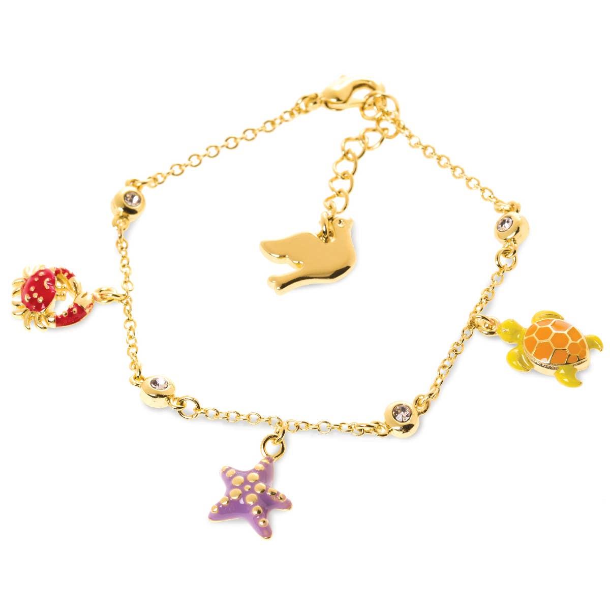 Under the Sea- Crab, Turtle and Starfish Bracelet | Trada Marketplace