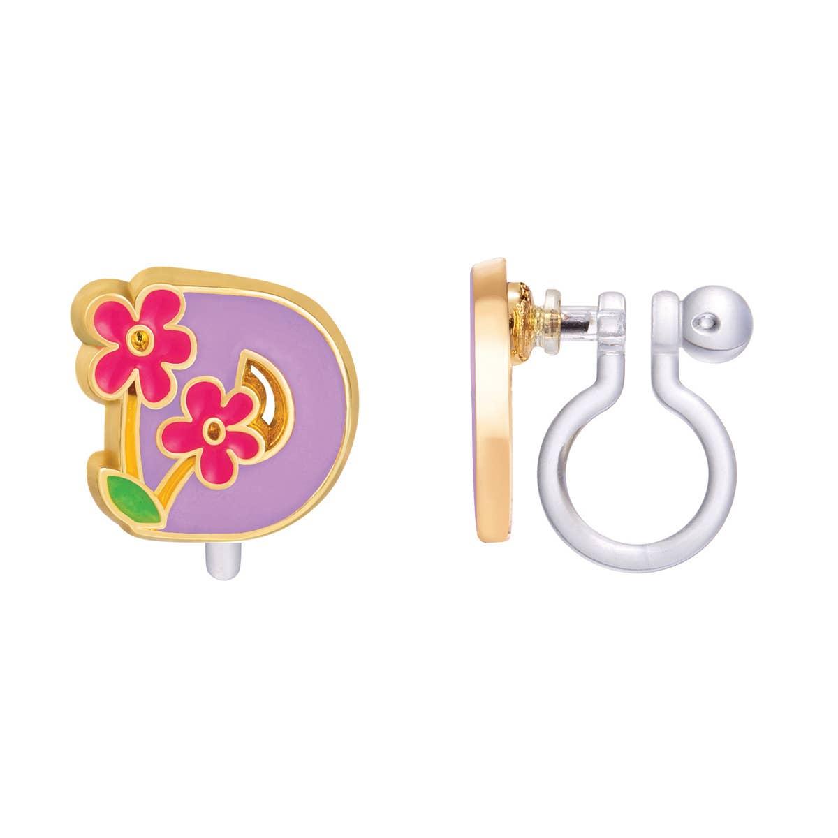 CLIP ON Cutie Initial Earrings- D | Trada Marketplace