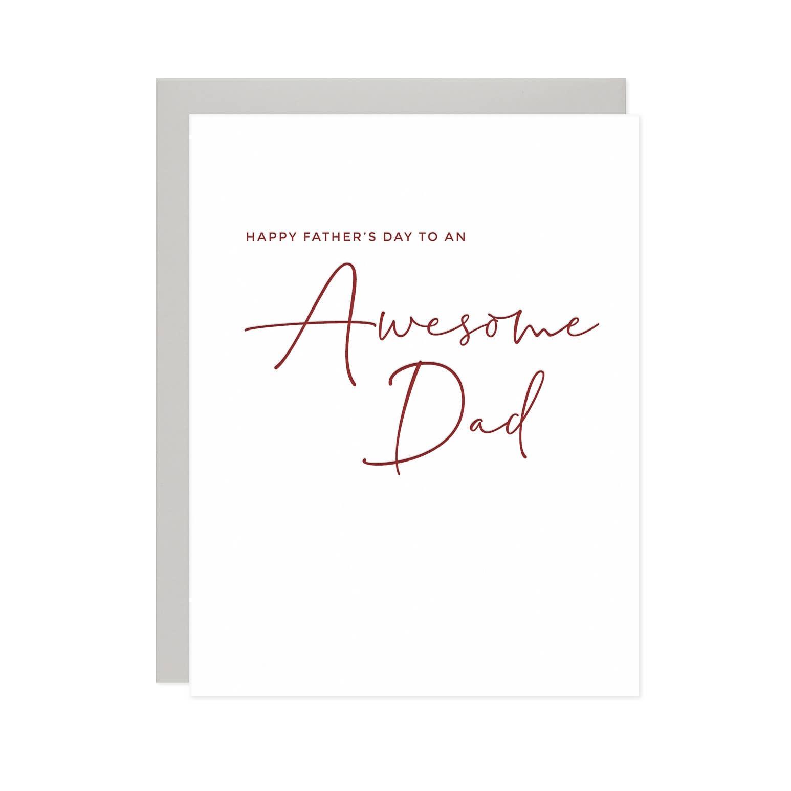 Awesome Dad Card | Trada Marketplace