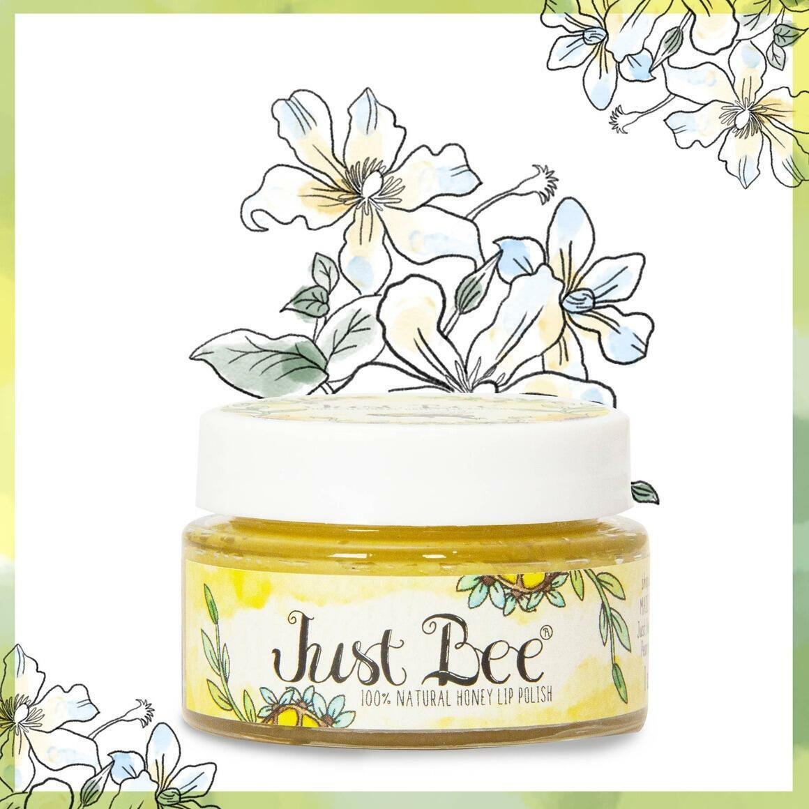 Lip Polish Jar - 100% Natural Granulated Honey Lip Scrub | Trada Marketplace