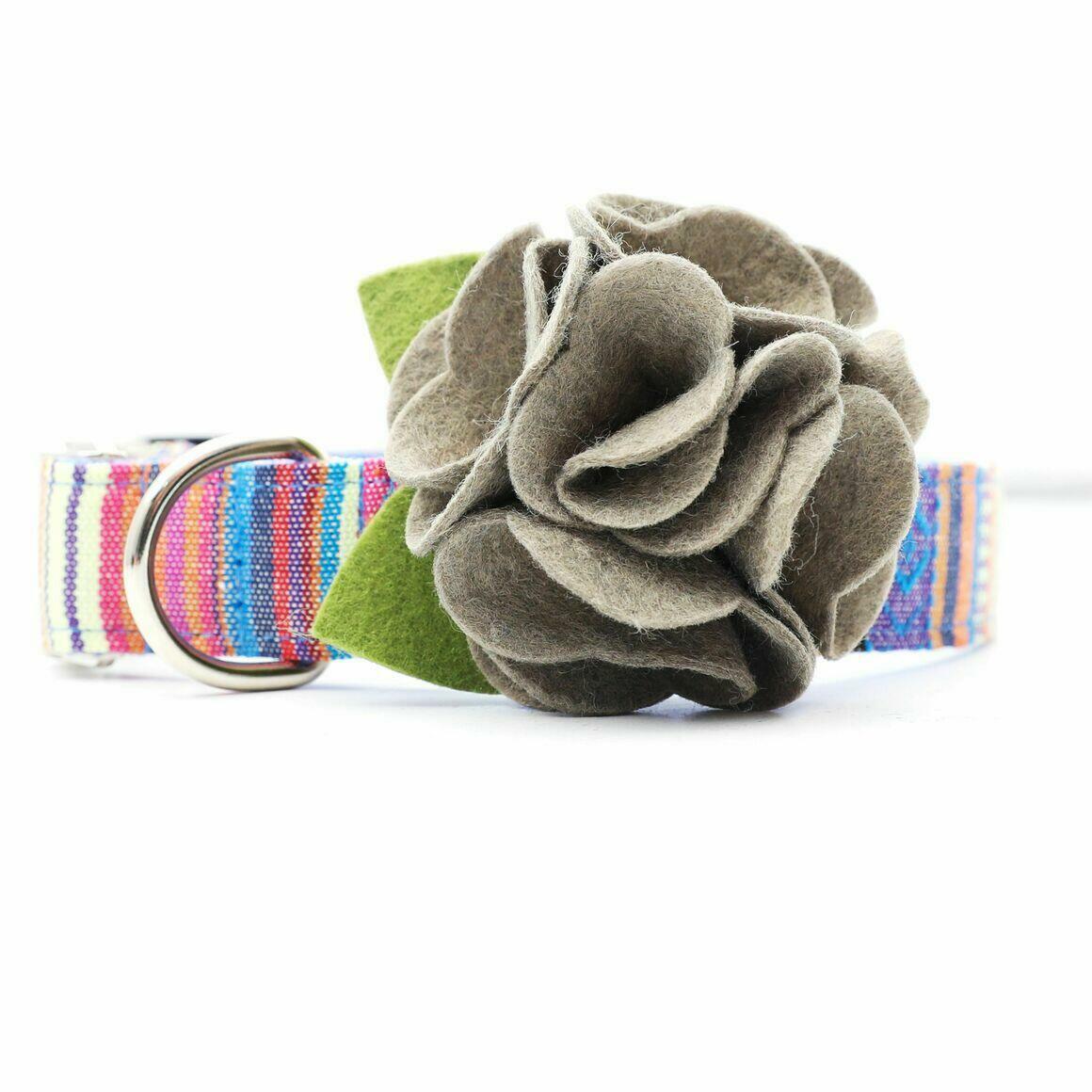 Dog Collar Hydrangea Flower - Toffee   Trada Marketplace