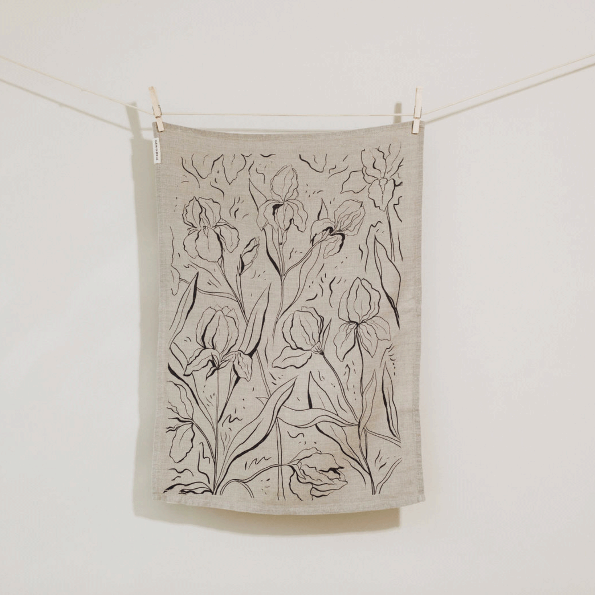 Iris Linen Tea Towel   Trada Marketplace