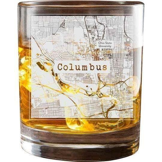 Columbus College Town Glasses (Set of 2)   Trada Marketplace