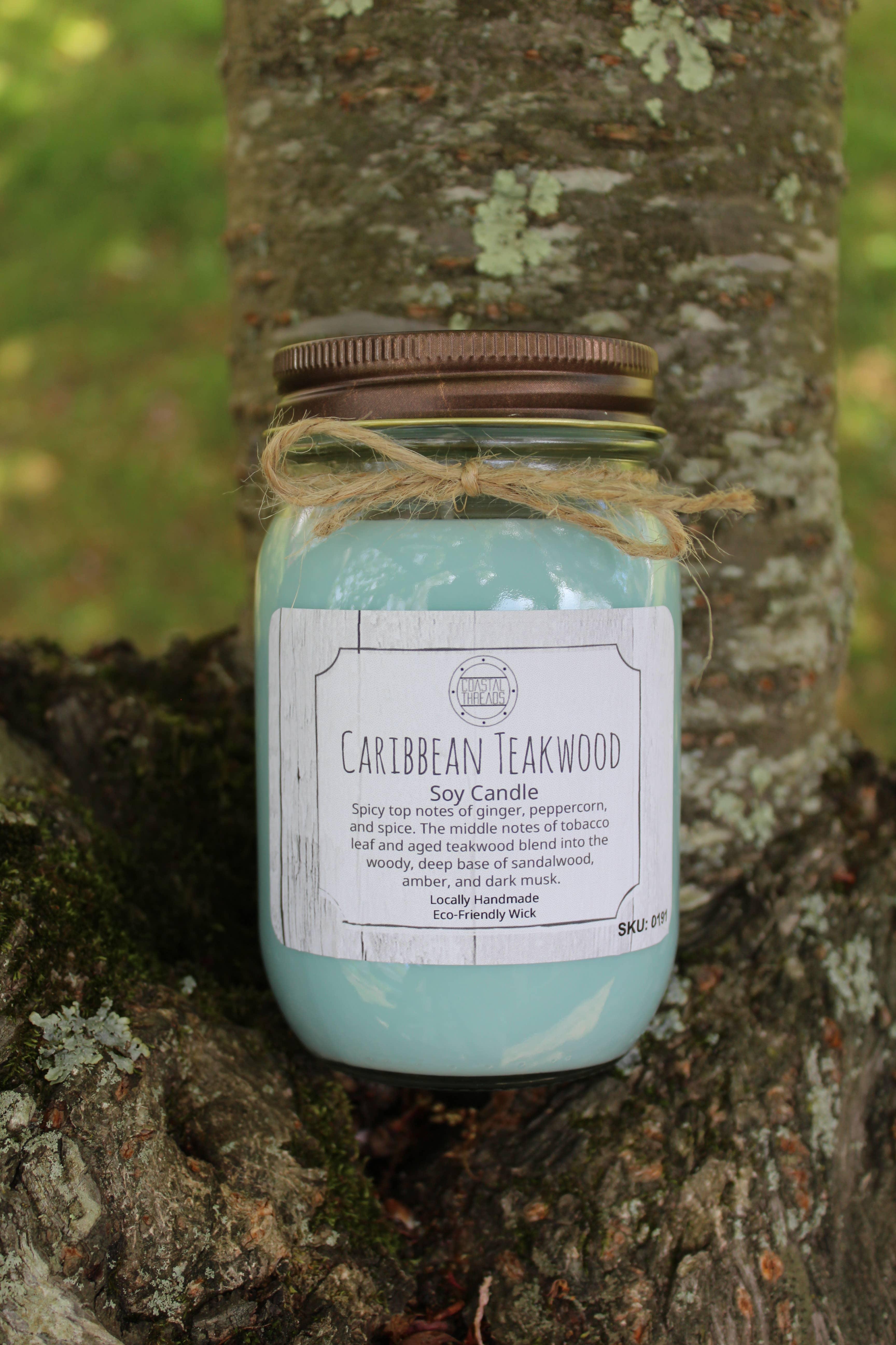 Caribbean Teakwood Soy Candle | Trada Marketplace