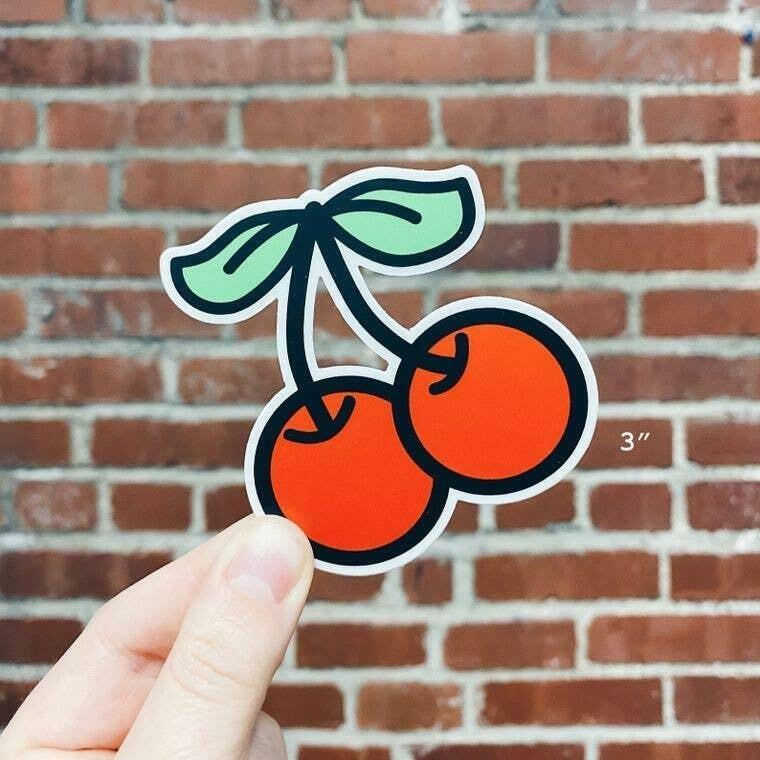 Cherries Die-Cut Vinyl Sticker | Trada Marketplace