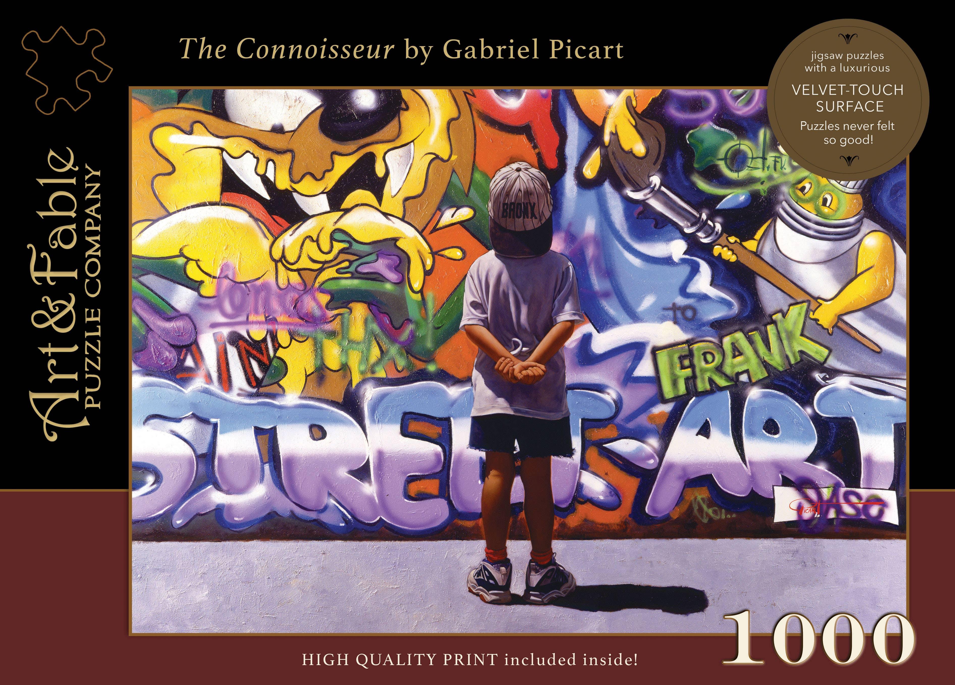 The Connoisseur, 1000-pc Velvet-Touch Jigsaw Puzzle | Trada Marketplace