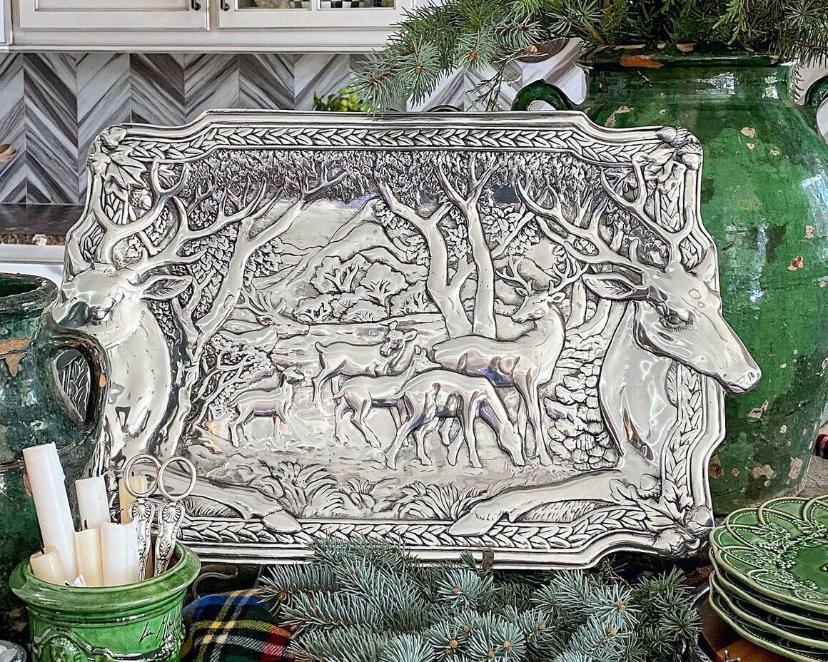Elk Herd Oblong Tray | Trada Marketplace