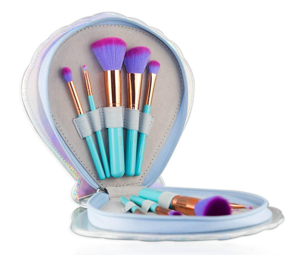 Aqua Brush Set - Stinaface Mermaid Clam Brush Set   Trada Marketplace