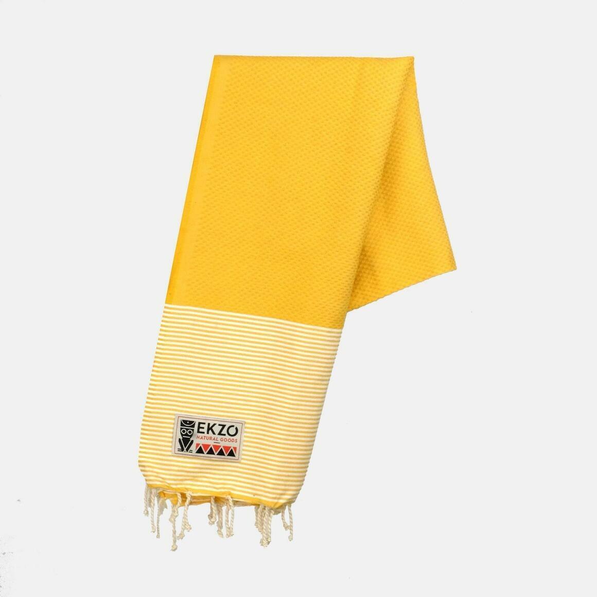 Beach Towel Honeycomb - Mellow Yellow | Trada Marketplace