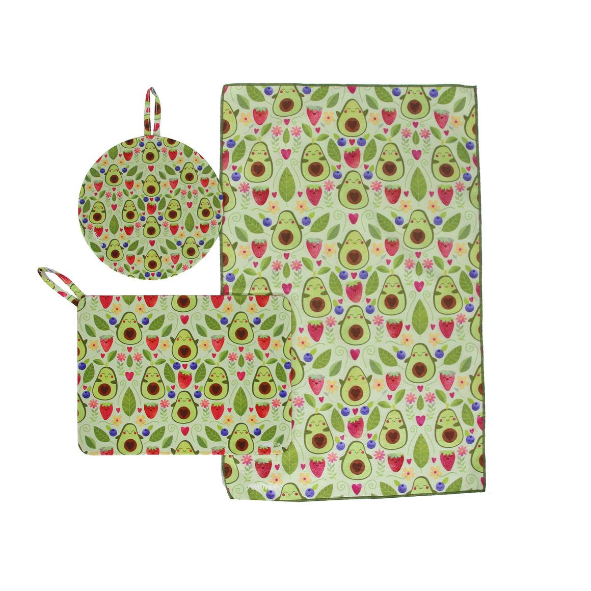 Trivet & Towel Set -  Elisabeth Fredriksson - Happy Avocado | Trada Marketplace