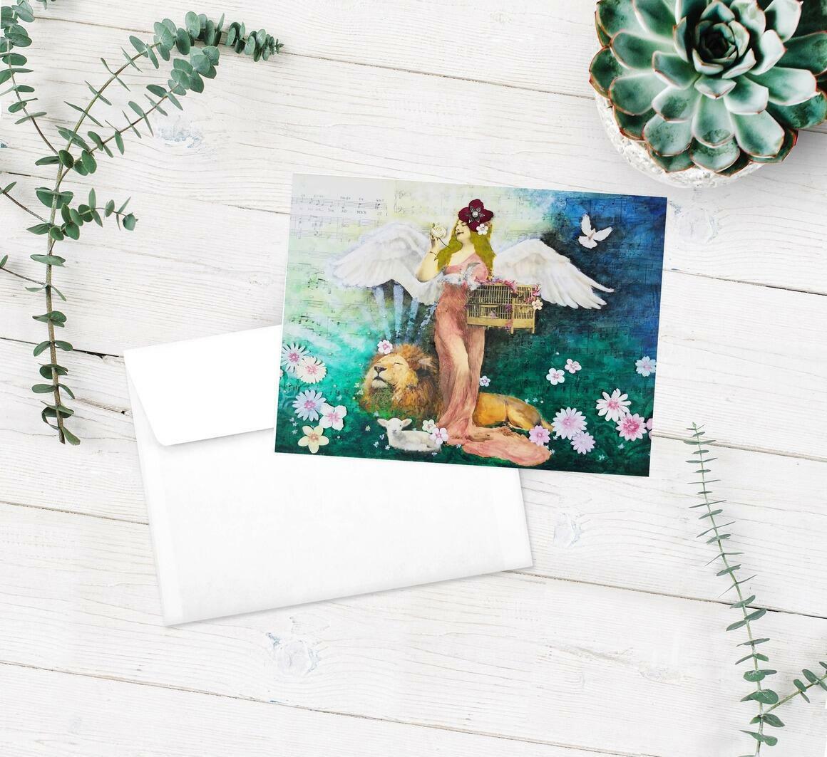Spring Greeting Cards pkg of 5   Trada Marketplace