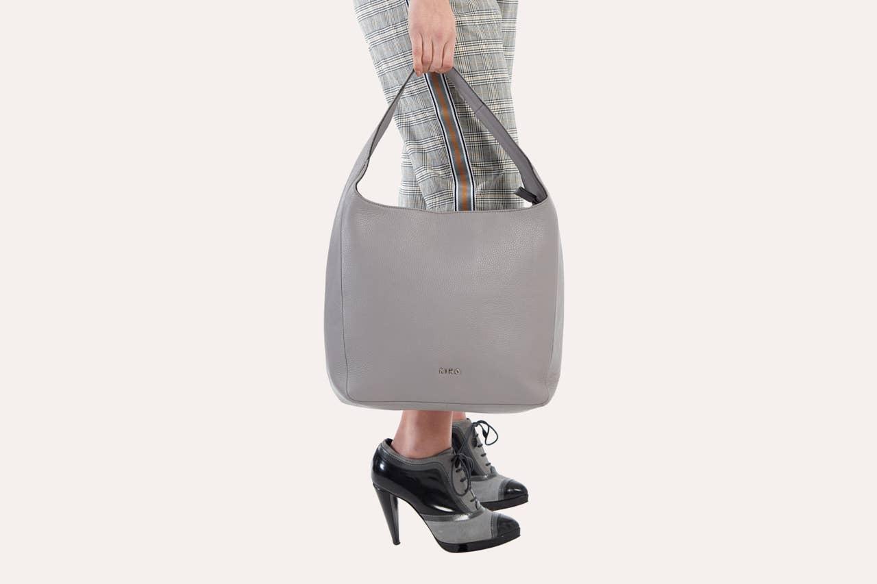 Grey Hobo Bag   Trada Marketplace