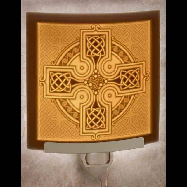 Celtic Cross Curved Night Light   Trada Marketplace