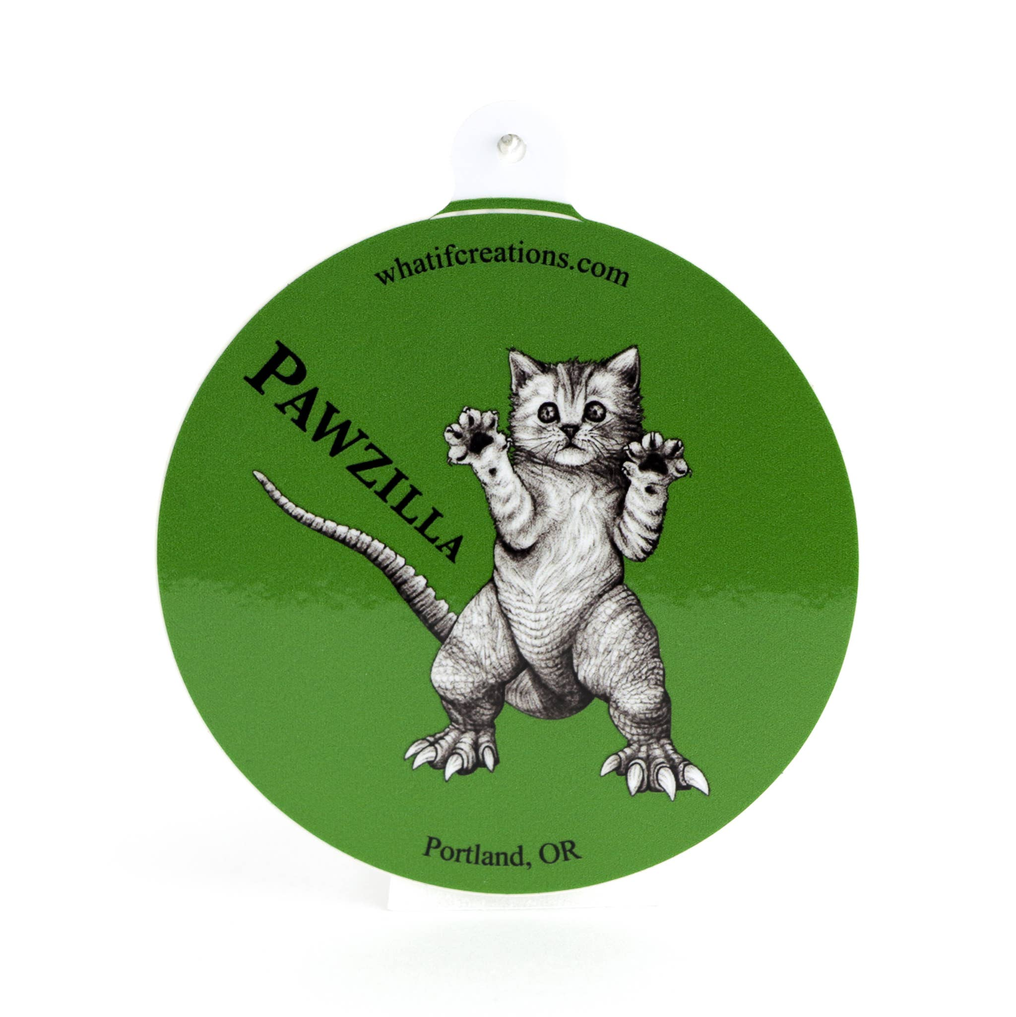 "Pawzilla 3"" Vinyl Sticker   Trada Marketplace"