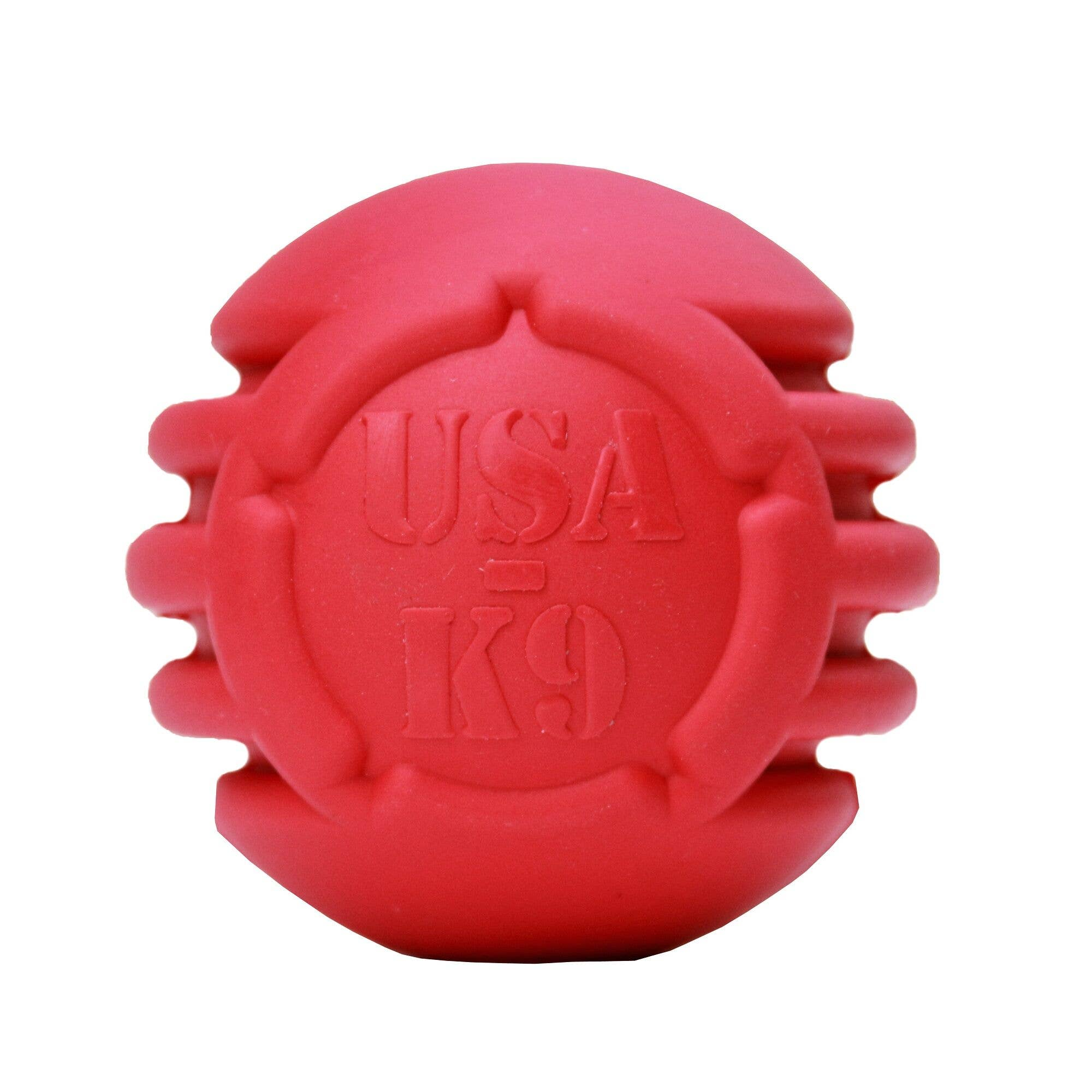 USA-K9 Stars and Stripes Ball - Retrieving Toy - Large - Red   Trada Marketplace
