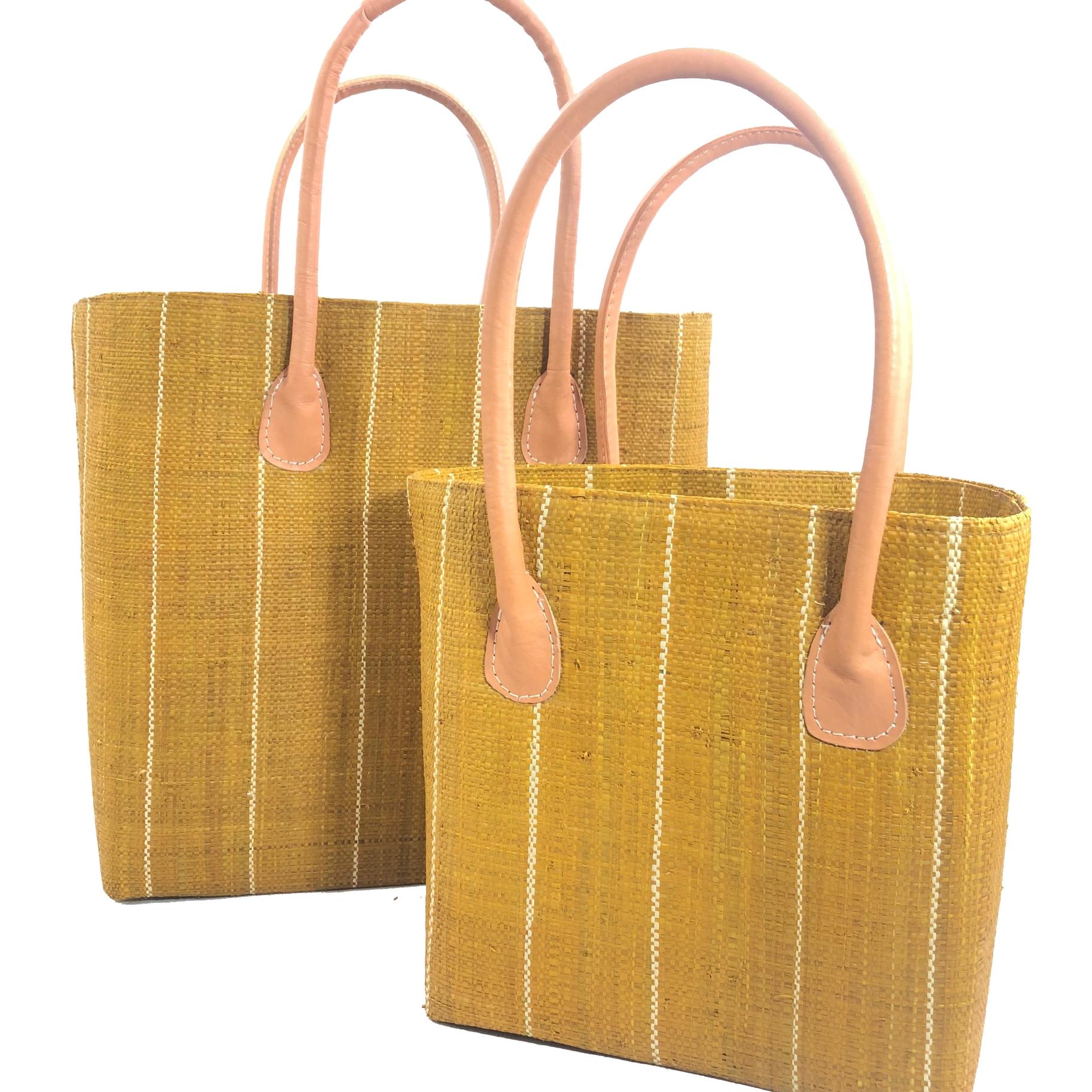 Soubic Pin Stripes Basket - Tobacco | Trada Marketplace