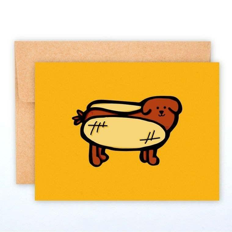 Hot Dog A2 Greeting Card with Envelope | Trada Marketplace