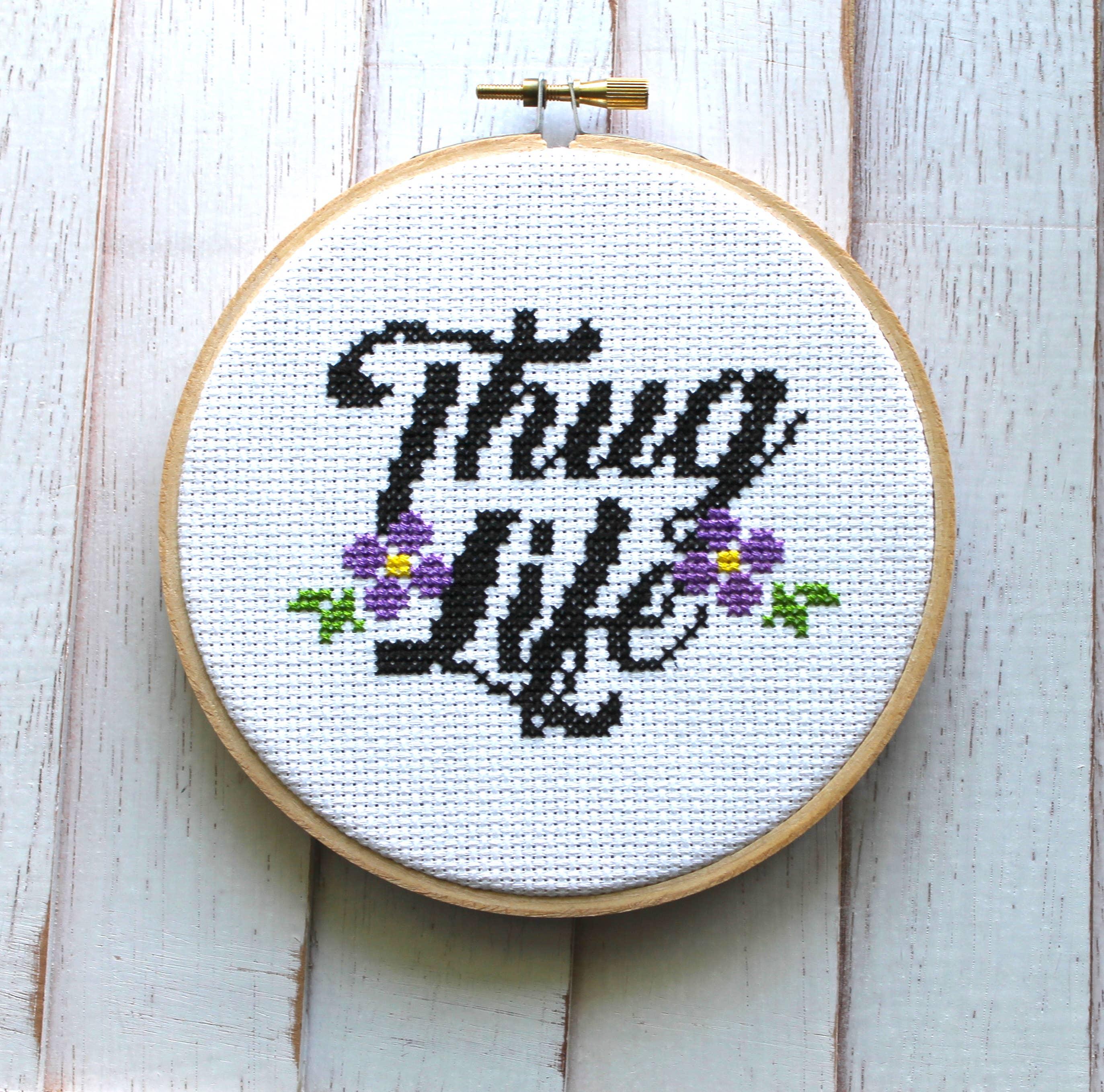 Thug Life Cross Stitch Kit   Trada Marketplace