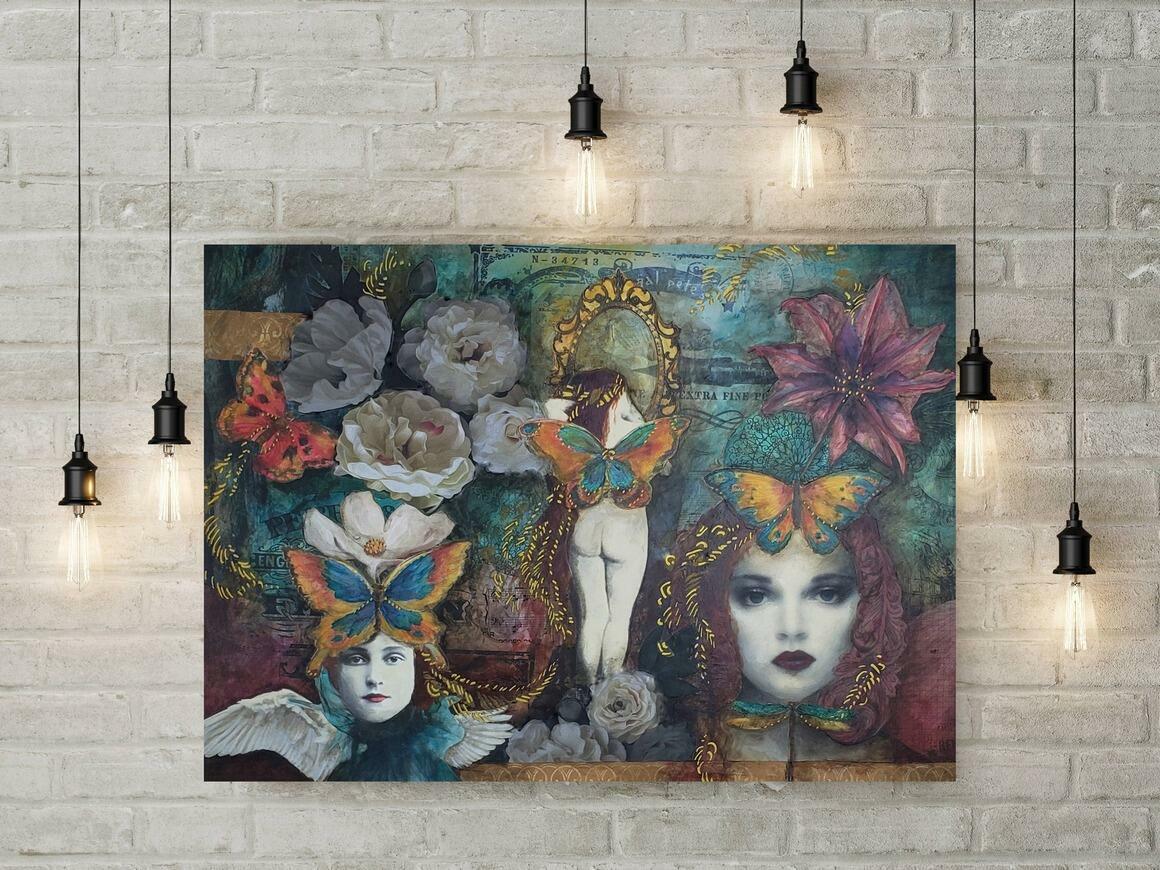 Ladies Canvas Wrap Print   Trada Marketplace