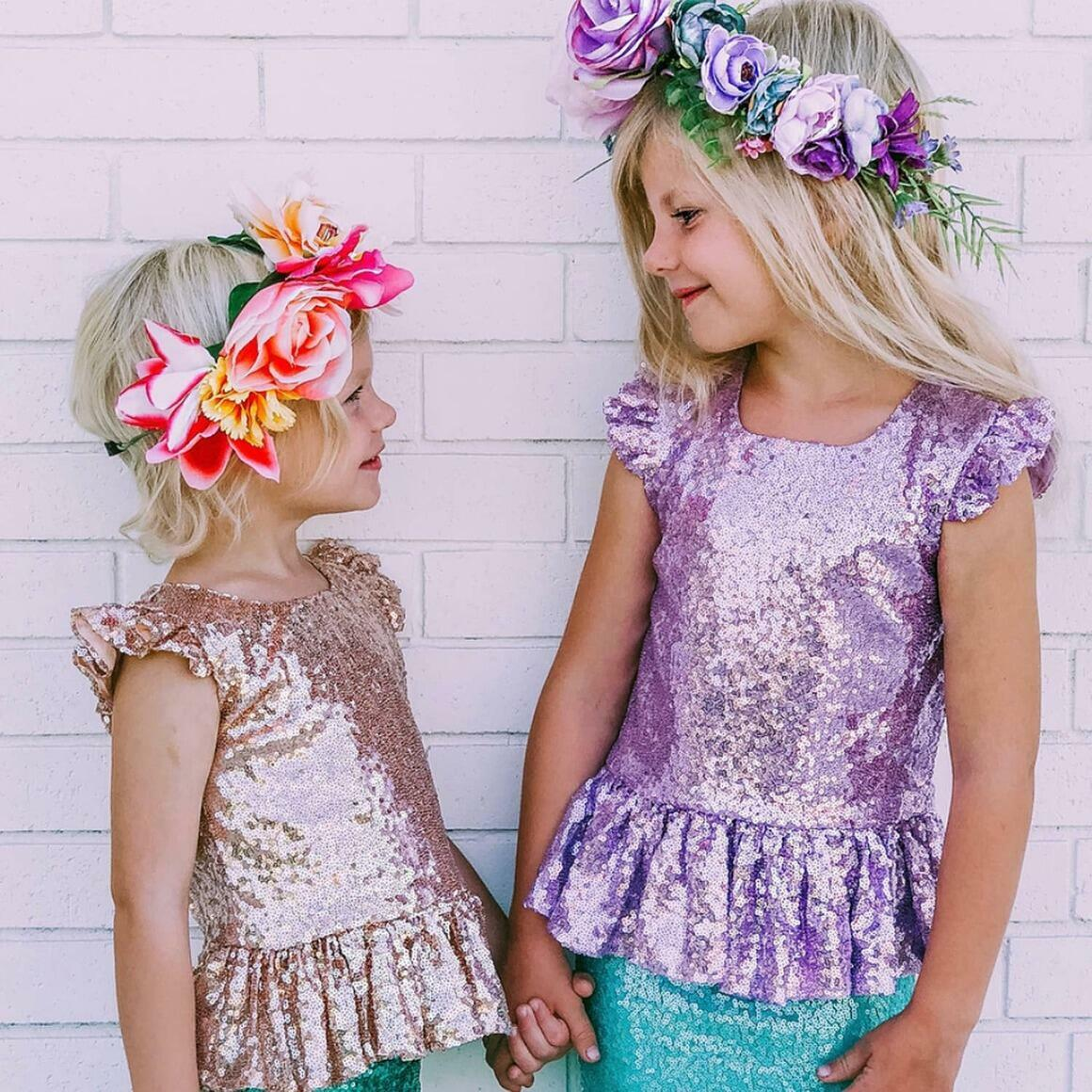 Lavender Sequin Peplum Top   Trada Marketplace