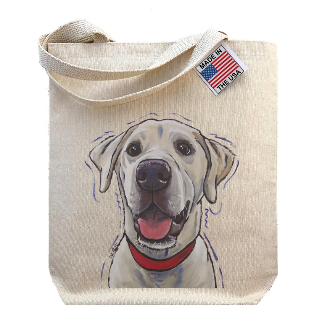Gusset Tote Bag, Yellow Lab Tote Bag, Labrador Gifts   Trada Marketplace