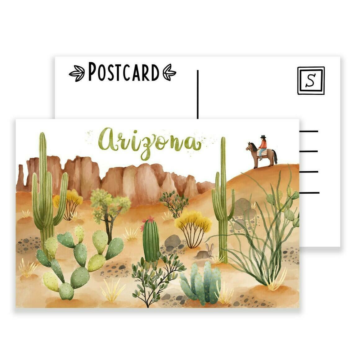 Arizona Postcard pack of 4 | Trada Marketplace