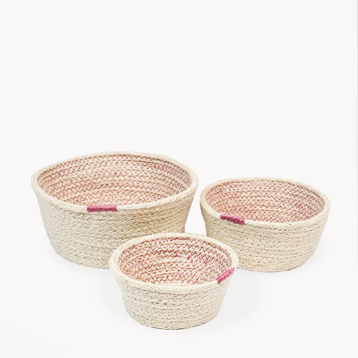 Amari Bowl - Pink (Set of 3) | Trada Marketplace