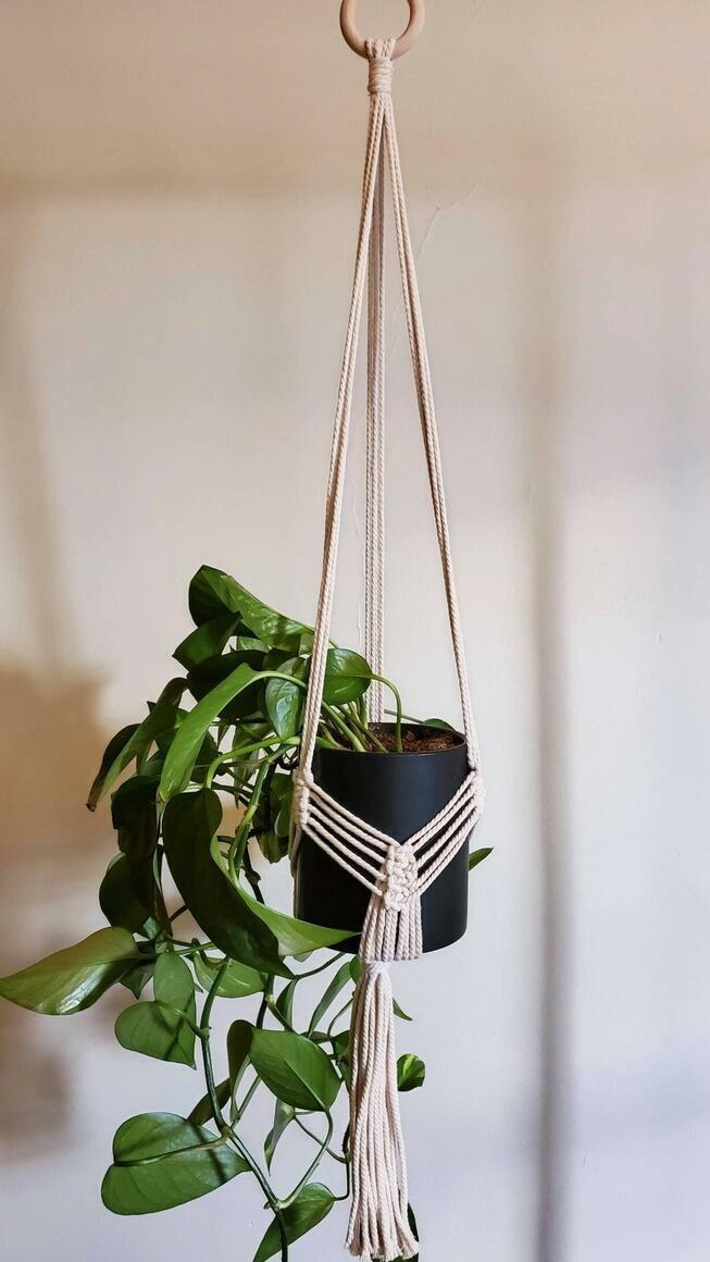 Macrame Plant Pot Hanger | Trada Marketplace
