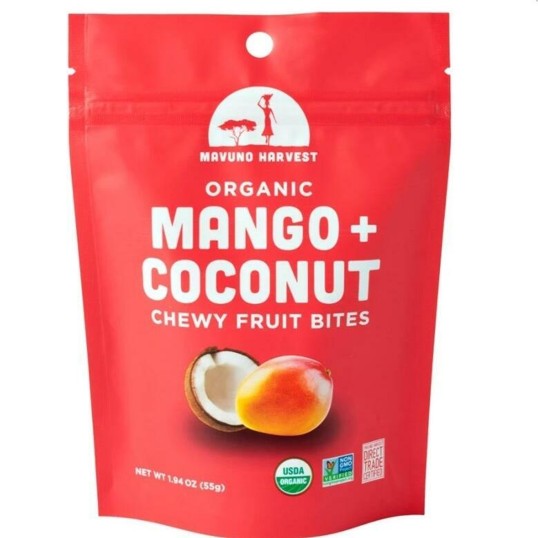 Mavuno Mango & Coconut Organic Chewy Fruit Bites | Trada Marketplace