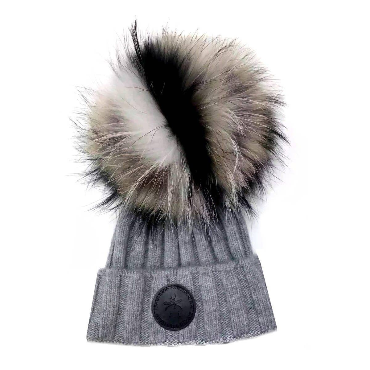 Game Face Grey Hat Natural Fur | Trada Marketplace