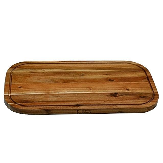 """18"""" x 10"""" Acacia Serving Rounded Cutting Board   Trada Marketplace"""
