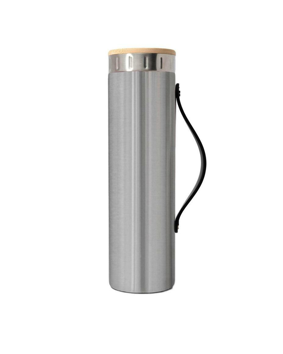 Iconic Brushed Steel Silicone-Strap Stainless Steel Bottle   Trada Marketplace