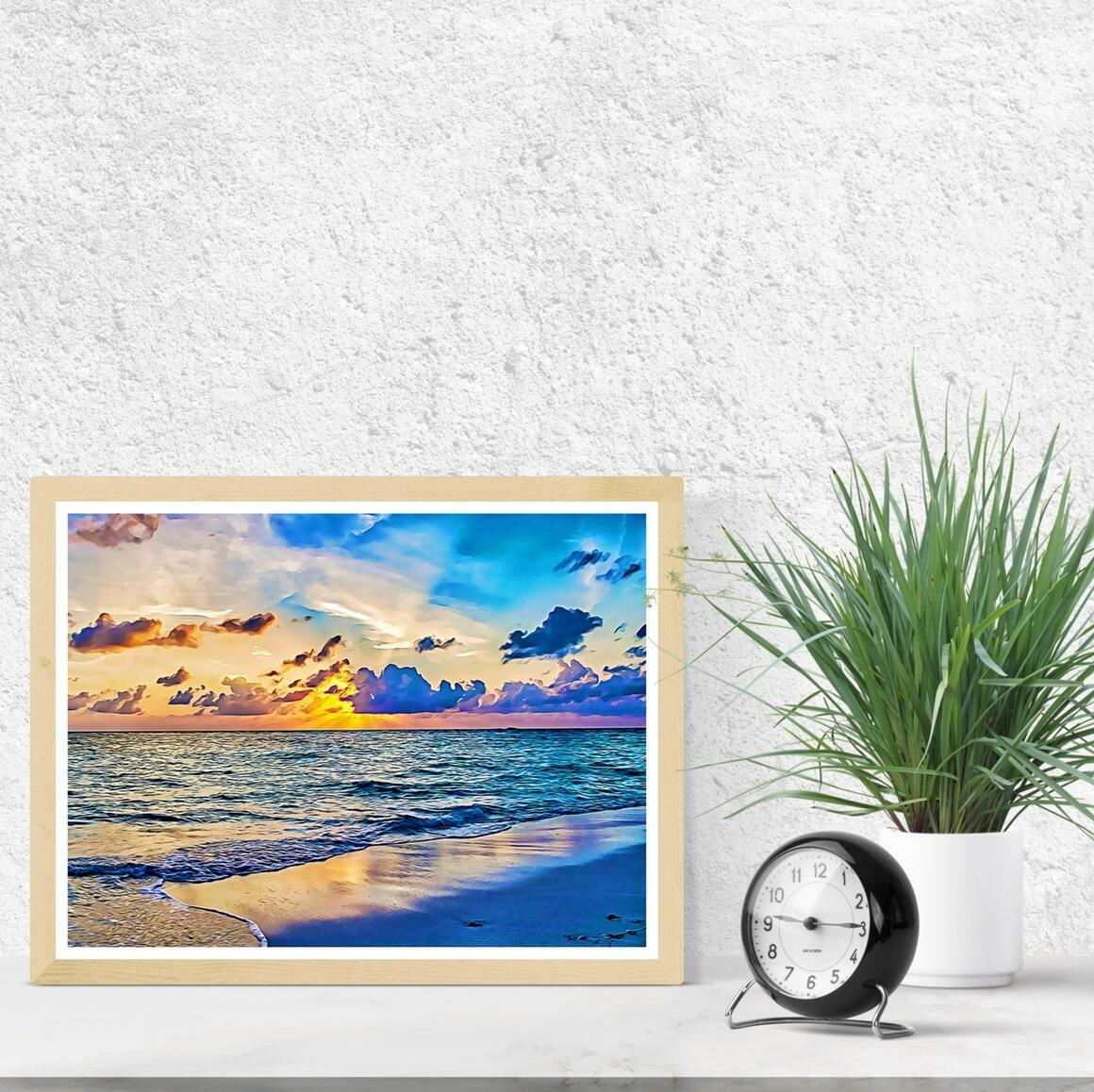 """Azure Sunset"" Fine Art Print | Trada Marketplace"